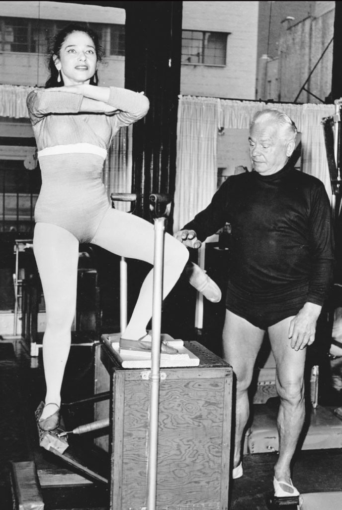 Eve Gentry with Joseph Pilates. Photograph©eve gentry.