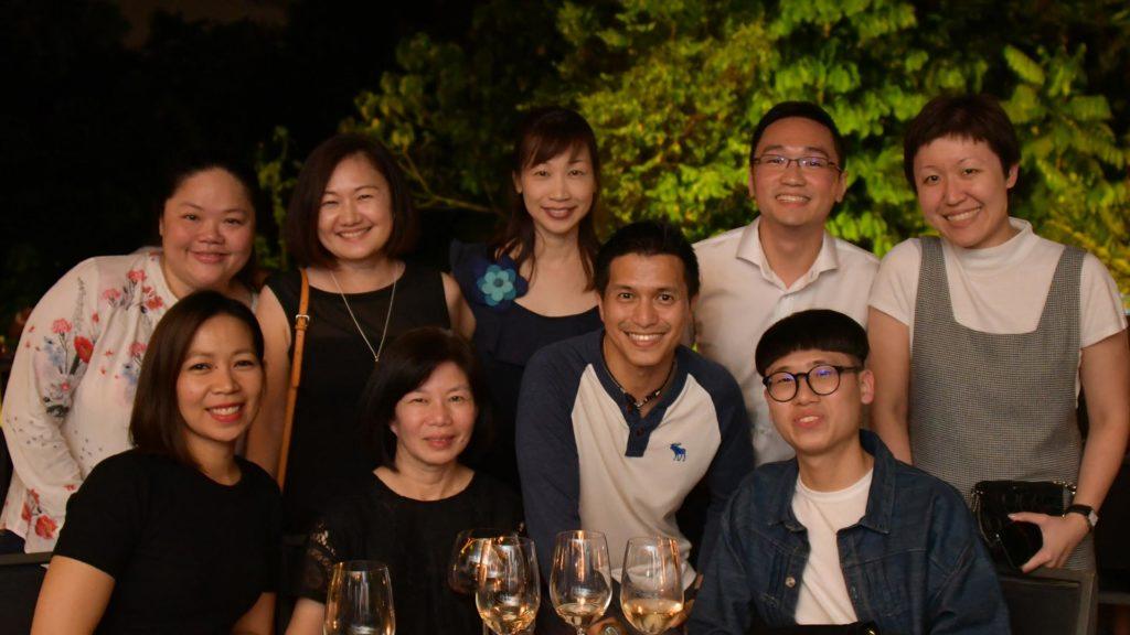 Back row: Dr Chan Wui Ling, Lynette Chen, Tan Wee Ping, Rey Yeo, Lee Chee Ying Front row: Jhen, Felina Tan, Derek Tan, Phua Zhijie