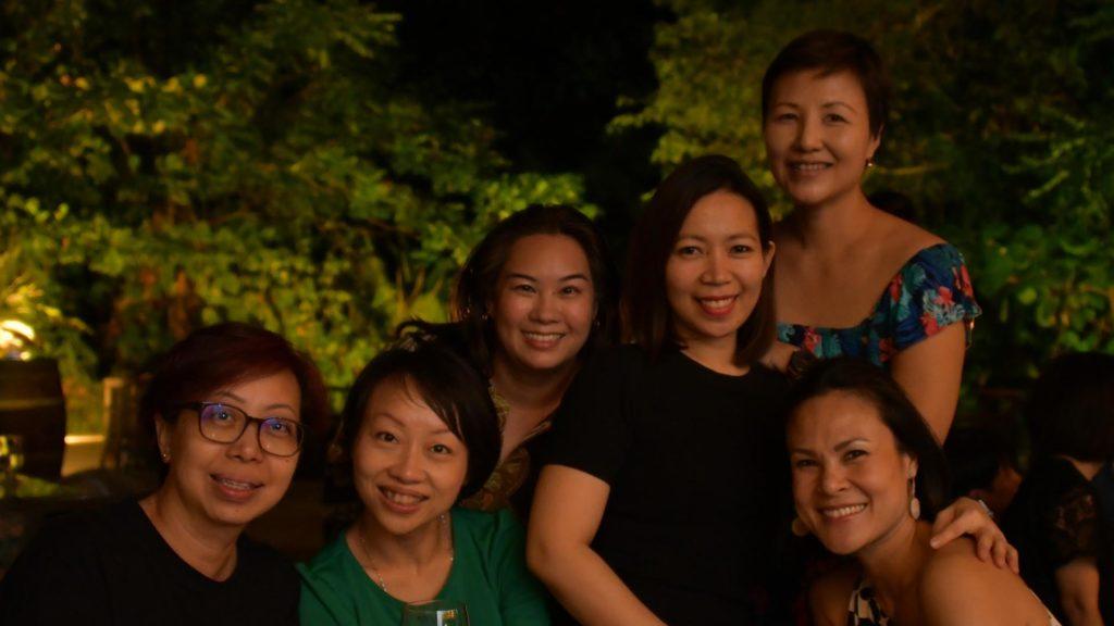 Back row: Evangelina Wee Front row: Evelyn Gow, Gow Hui Yian, Zarine Wong, Jeannelyn Luistro De Juan, Tan Su Lyn